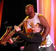 Dave Koz and the late Wayman Tisdale  by Barb White