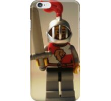 Lion Knight Quarters, Helmet with Fixed Grille iPhone Case/Skin