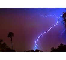 Lightning strike out Photographic Print