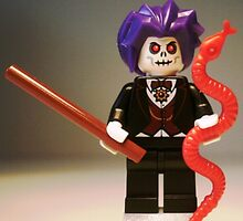 Evil Magician Custom Minifigure with Magic Wand & Snake by Customize My Minifig