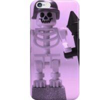 Skeleton Zombie Soldier with Custom Minifigure Helmet and baooka iPhone Case/Skin