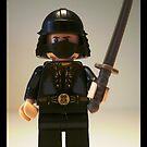 Black Japanese Samurai Warrior Minifigure / TMNT Shredder Custom Minifig by Customize My Minifig