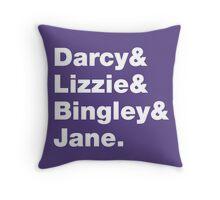 Darcy & Lizzie & Bingley & Jane. Throw Pillow