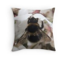 Busy Bee (Close Up) Throw Pillow