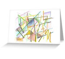 Jazzy Glass Greeting Card