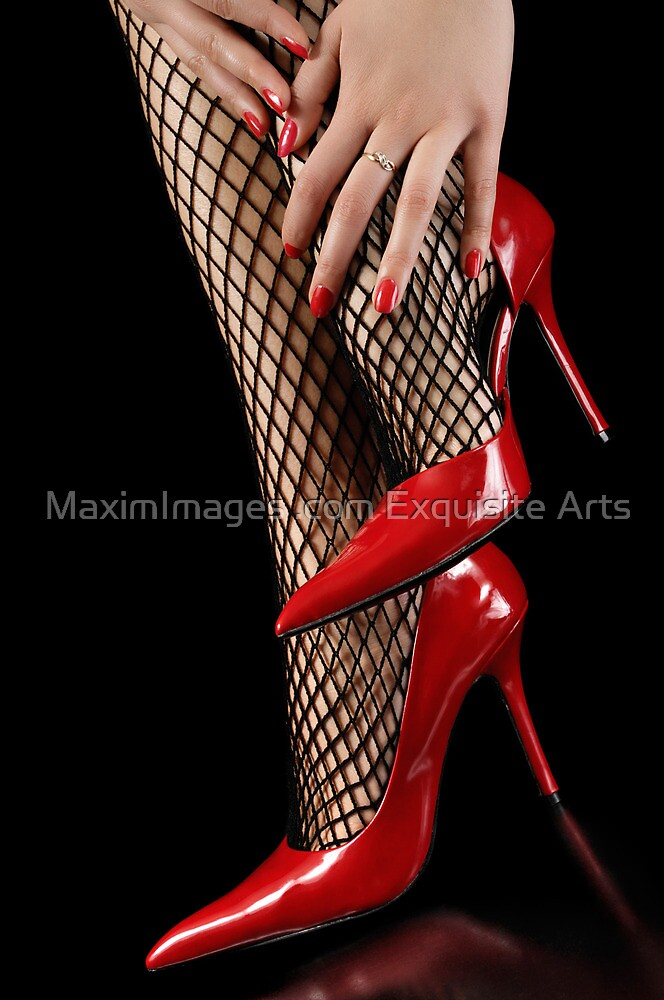 Woman legs in fisnet stockings and high heels by ArtNudePhotos