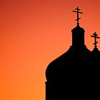 Silhouette - St. Mary's Domes by Roxanne Persson