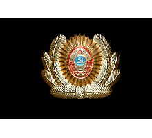 Soviet Red Army Officer Uniform Cap Badge Photographic Print
