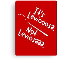 It's Leviooooosa. Canvas Print