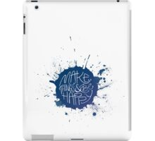 Make Things & Be Happy iPad Case/Skin
