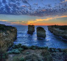 Sunset Tango (Portrait) - The Twelve Apostles - The HDR Experience by Philip Johnson