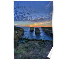 Sunset Tango (Portrait) - The Twelve Apostles - The HDR Experience Poster