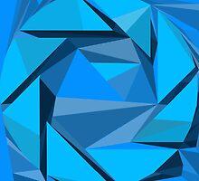 Aperture science geometric logo design Portal by Jaiken Mergard