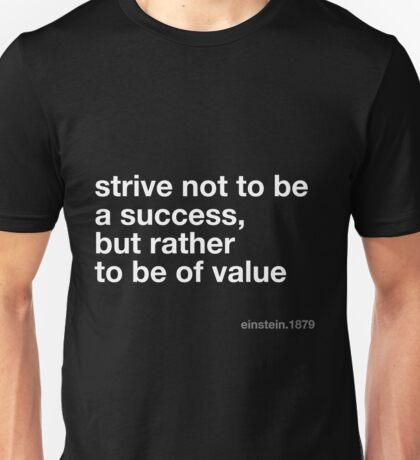 Einstein Value Quote Unisex T-Shirt
