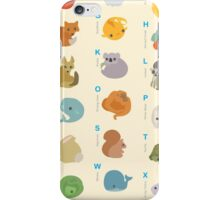 Animal Alphabet A-Z iPhone Case/Skin