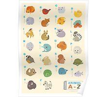 Animal Alphabet A-Z Poster