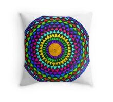 Multi-Colored Mandala Throw Pillow
