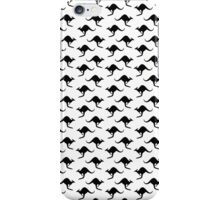 Kangaroo wallpaper - transparent background iPhone Case/Skin