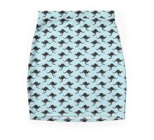 Kangaroo wallpaper - transparent background Mini Skirt