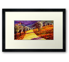 Road Through the Olive Grove Hill Framed Print