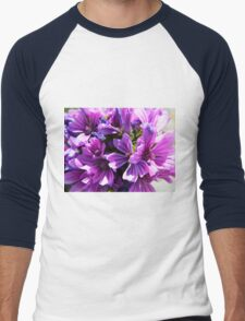 Purple Flower Men's Baseball ¾ T-Shirt