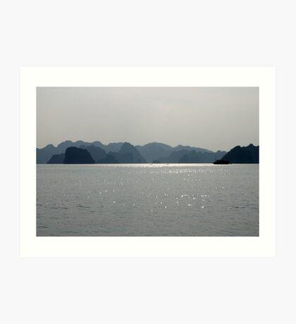 """Blues Hue's"" - Halong Bay, Vietnam Art Print"