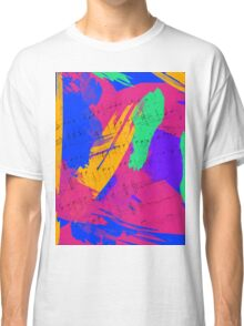 Wild Paint Brush Colors and Music Sheets Classic T-Shirt