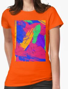 Wild Paint Brush Colors and Music Sheets Womens Fitted T-Shirt