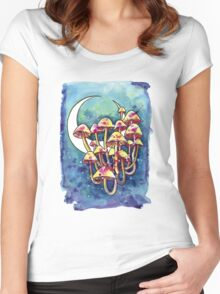 Mushroom Patch Women's Fitted Scoop T-Shirt