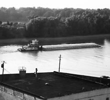 Mississippi River/Towing boat by jlslade