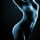Nude in blue light by Mikhail Palinchak