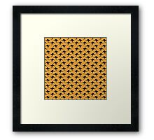 Kangaroo wallpaper - yellow background Framed Print