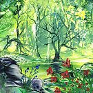 Lilies In The Wood by Maria Louise Moore
