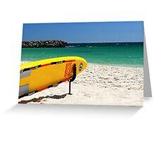 lifeguard surfboard Greeting Card
