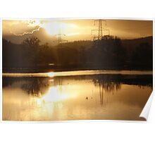sunset flood  Poster