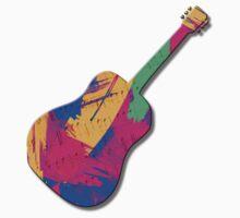 Guitar Shape Wild Paint Brush Colors  Kids Clothes