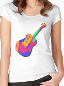 Groovy Guitar Women's Fitted Scoop T-Shirt
