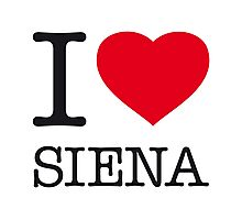 I ♥ SIENA Photographic Print
