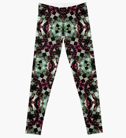 Geometric Abstract Grunge Pattern Leggings
