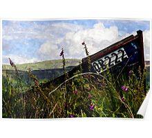 Abandoned Vessel - Isle of Ulva - Watercolour Poster