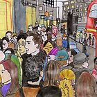 Crowded Oxford Street by Kyleacharisse
