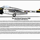 De Havilland Vampire FB9 Profile by coldwarwarrior