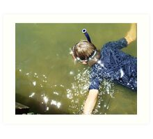 things to do in water Art Print
