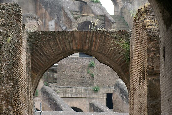 Colosseum, Rome, view through arch from gallery by BronReid