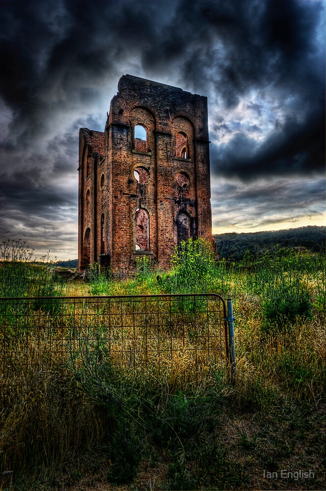 Lithgow Blast Furnace Ruin by Ian English