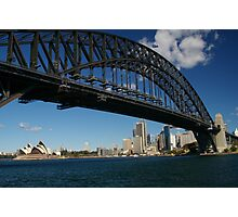 Sydney Harbour Bridge from Milsons Point Photographic Print