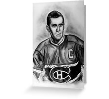 The Rocket - Portrait of a Great Hockey Player Greeting Card