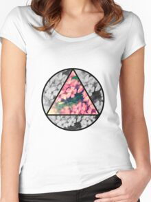 Floral collage  Women's Fitted Scoop T-Shirt