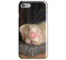 Albino Ferret, Macro iPhone Case/Skin
