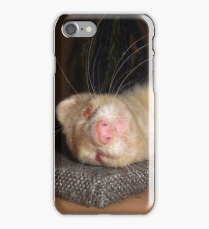 Albino Ferret, Macro iPhone Case/Skin